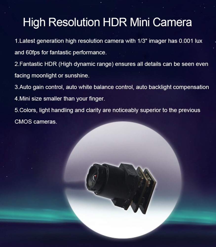 High quality resolution HDR mini cctv spy camera S1000