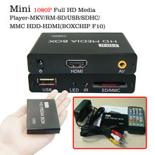 boxchip f10 mini full hd 1080p SD Card media player HDMI with USB HDD HDMI media player box with folder repeat playing fuction