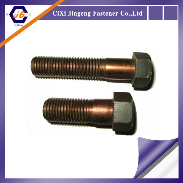 ISO 4014 DIN 931 Yellow zinc plated hex bolt