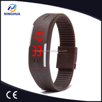 Promotional Design Candy Colors Digital Cheap Silicone Rubber Strap Watch
