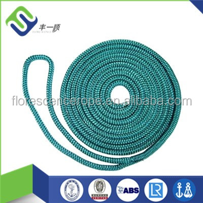 Factory supply nylon double braided rope dock line for yatch