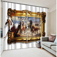 Fashion blinds with latest horse window designs for polyester blackout curtains