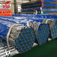 "1/2""-10"" inch ASTM A795 SCH10 Hot dipped galvanized steel tubes"