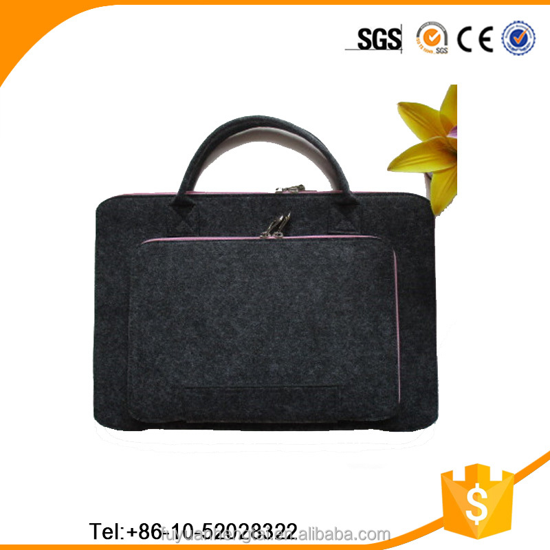 China felt manufacturer wholesale felt laptop bag with low price