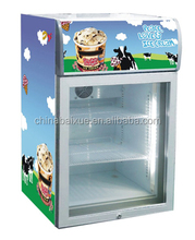 HOT SALE Counter TOP GLASS DOOR ice cream freezer IF72(72L/2.52Cu.ft),CE,ETL,RoHS certificated