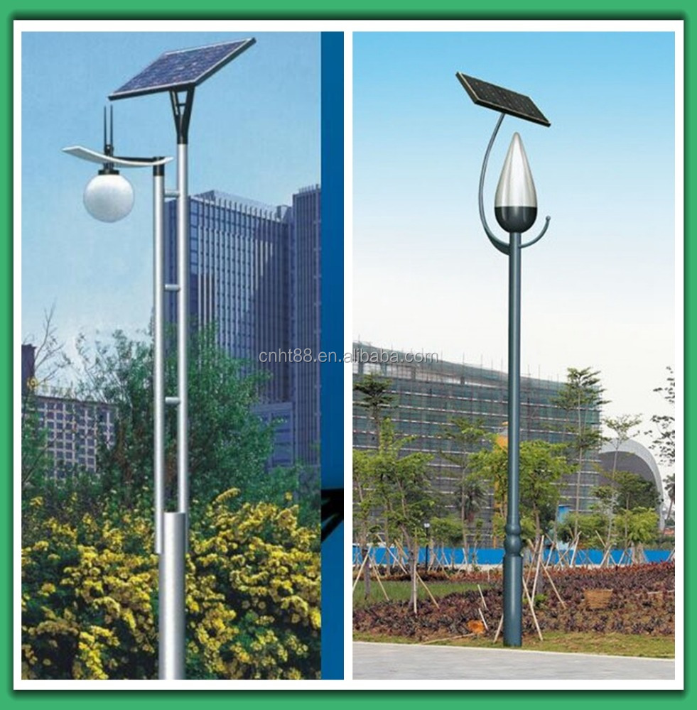 powerful decorative solar led garden light pole