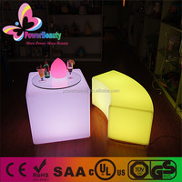 led multi color glowing furniture cube lightign battery operated led cube bar table