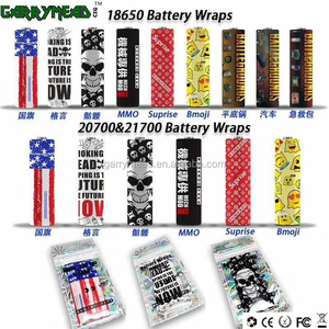New colorful 18650 battery wraps ecig battery wraps battery wrap 18650 20700 21700 custom Battery skin,Battery Sticker, Battery