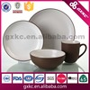 Unbreakable brown and white two tone matt suface stoneware tableware