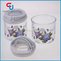 0.45L cylindrical easy-lock storage plasitic box