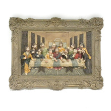 3d religious the last supper hanging board for decoration