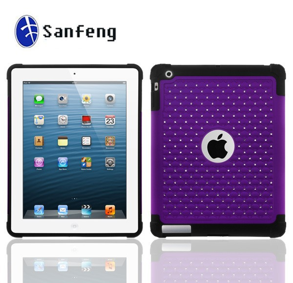 New Products factory price diamond Cover Case for iPad Air Made in China