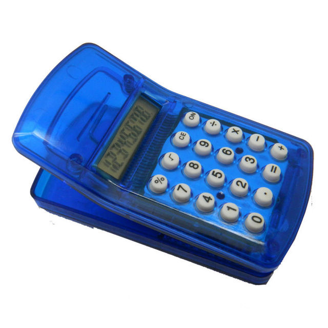 8 Digits Battery Portable Calculator with Clip