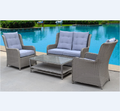 New 4pcs Rattan Garden Chair Set