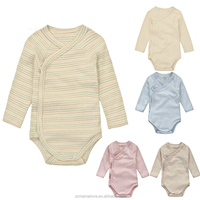 Wholesale Summer Short Sleeve new Baby Rompers 100% Organic Cotton Newborn Clothes Infant Rompers Baby Clothes