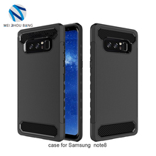 6 Colors Scrub Case for Samsung Galaxy note 8 TPU+PC Solid color 2 layer Full Cover Back Phone Cases for Samsung note8