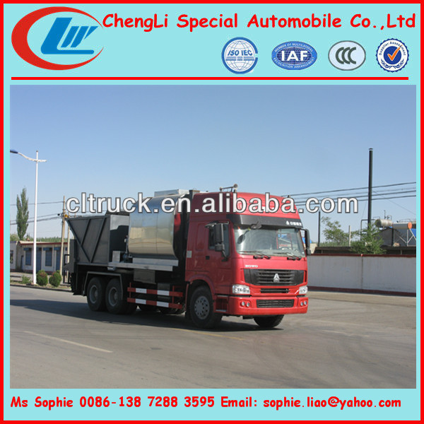 Smart micro-surfacing truck,modified emulsified asphalt slurry sealer