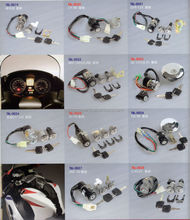 Motorcycle lock set, parts for GXT200(QINGQI QM200GY),HJ125-7(HAOJUE) ETC