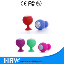 HRW-BH050-1 3.5mm Aux Gift Sale Mini Wine Drinking Cup Suck Sucker Suction Holder Waterproof Loudspeaker Speaker For Mobile Tab
