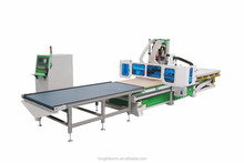Auto loading and unloading nested based fabrication cabinet woodworking cnc router machine