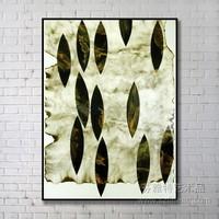 Modern Metal Leaf Wall Art