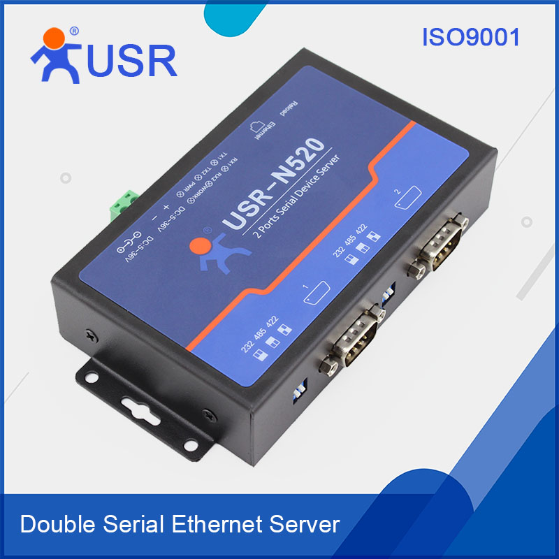 USR-N520 RS422 to TCPIP RS232 RS485 Ethernet RJ45 Converter Built-in Webpage and Websocket Supported
