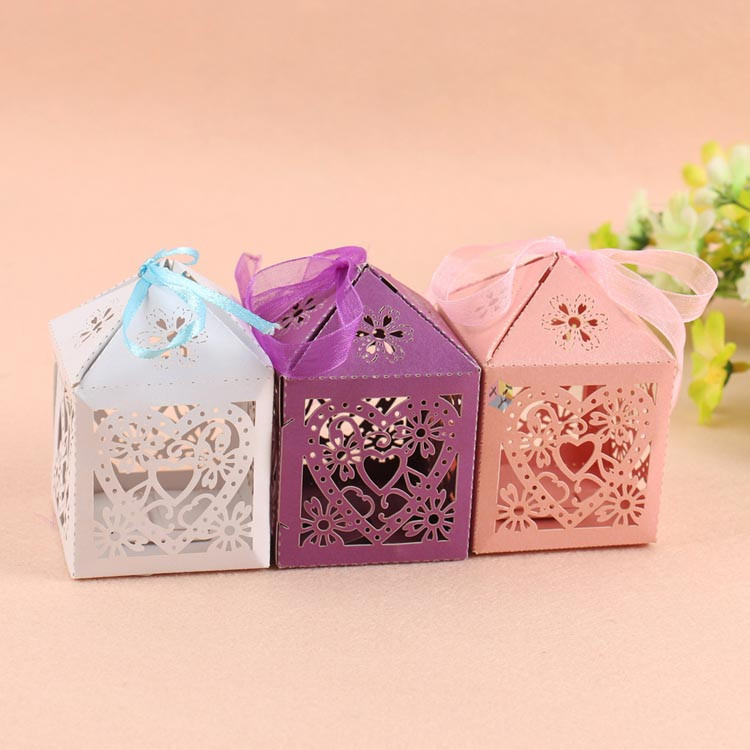 small decorative cheap gift bow tie ramadan favor box