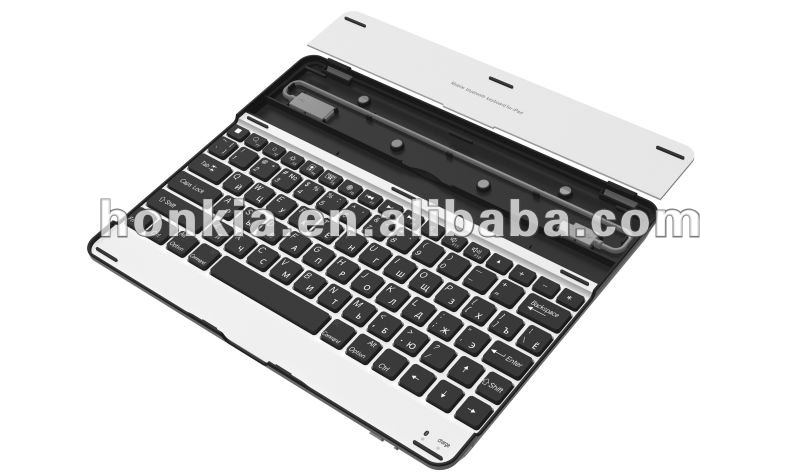 Aluminum Wireless Bluetooth Keyboard for Ipad2/3 with Germany, Italy, Russian Languages and so on
