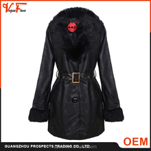 Chinese manufacturer supply New fashion cheap pakistan raw plus size long waterproof women leather jacket for ladies