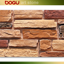 Natural terracotta brick look wall stone tile