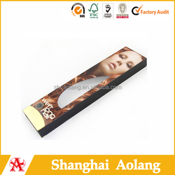 top quality hair extension paper cosmetic box false hair packaging box