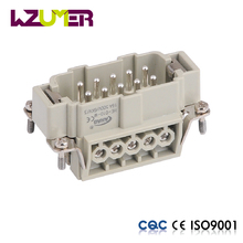 WZUMER power connector 10 pin electrical meale female wire connector for hot runner temper controller