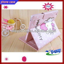 2013 good selling hello kitty leather case for ipad 3