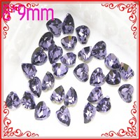 TA159-162 9mm*8mm 3d Crystal acrylic nail supplies Rhinestones Accessories Charms Designs crystal rhinestone nail art heart