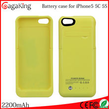 Battery case for iphone5s 5c Wireless charger 2015 hotselling rechargeable lithium-ion battery 5v