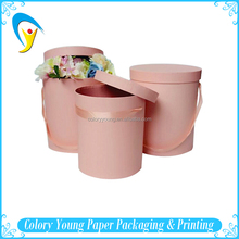 Custom Logo Printed Round Cardboard Paper Flower Box With Hat