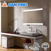 Elegant rectangle bathroom accessories set bathroom mirror
