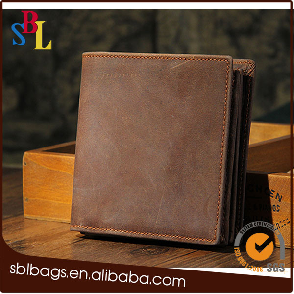 vintage man leather wallet card wallet for men