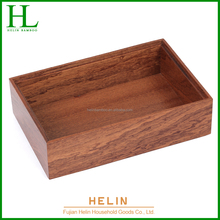 Sapele wood storage box cutlery box factory directly