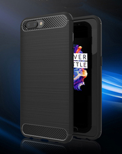 Hot Sale Carbon Fiber Pattern Soft Bumper TPU Back Cover Case For One Plus 5