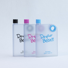 Newest 380ml portable mini memo a5 notebook water bottle