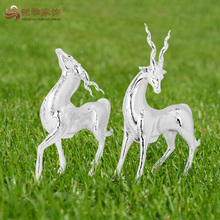 wholesale outdoor garden decoration miniature resin deer figurine