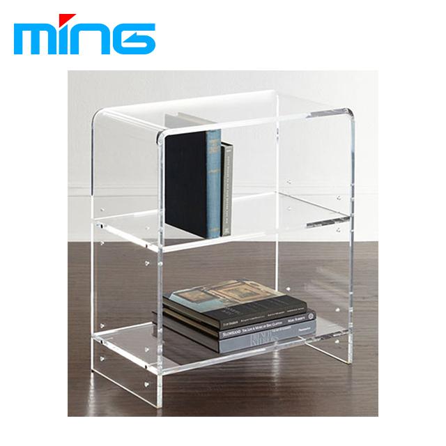 Transparent Bookshelf Bookcase Leaflets Catalogue Desktop Display Acrylic Box