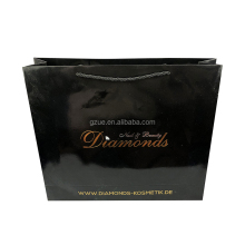 Custom black Art Paper Made Fashion shopping Carry Bags For Consumption