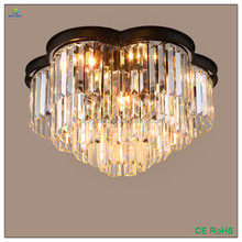 Best sale luxury chandelier with modern crystal E14 ceiling pendant light 4ring