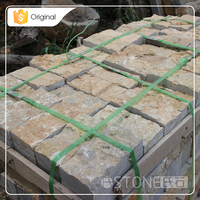 50-100mm Limestone Decoration Garden Landscaping Block Paving Stone
