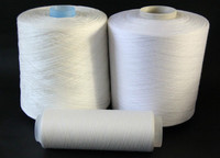 raw white polyester yarn plastic and paper cone sewing thread,polyester spun yarn for knitting