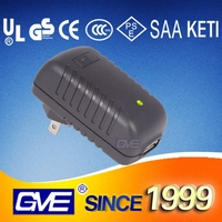GVE AC DC 12V2A 5V3A wall mounting power supply adapter