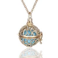 Simple bead necklace elephant pendant necklace plastic necklace