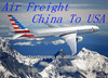cheap and fast airfreight shippng rates from China to SBN SOUTH BAND ---Liza